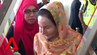 Najib Razak charged: Wife Rosmah Mansor thanks supporters outside court