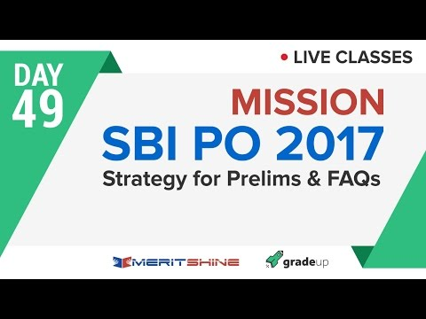 Strategy for prelims + Frequently asked questions | SBI PO 2017 Online Classes #DAY 49