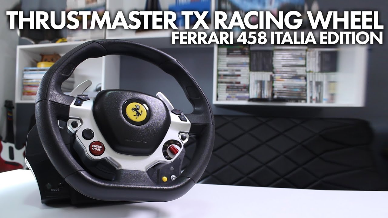 thrustmaster tx racing wheel ferrari 458 italia edition xbox one pc youtube. Black Bedroom Furniture Sets. Home Design Ideas