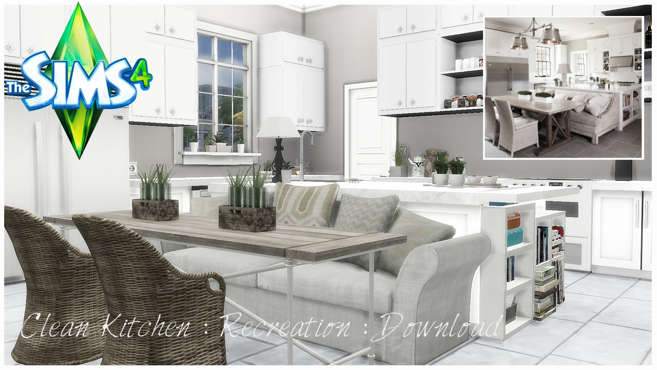 The Sims 4 : Clean Kitchen : Recreation : Download - YouTube