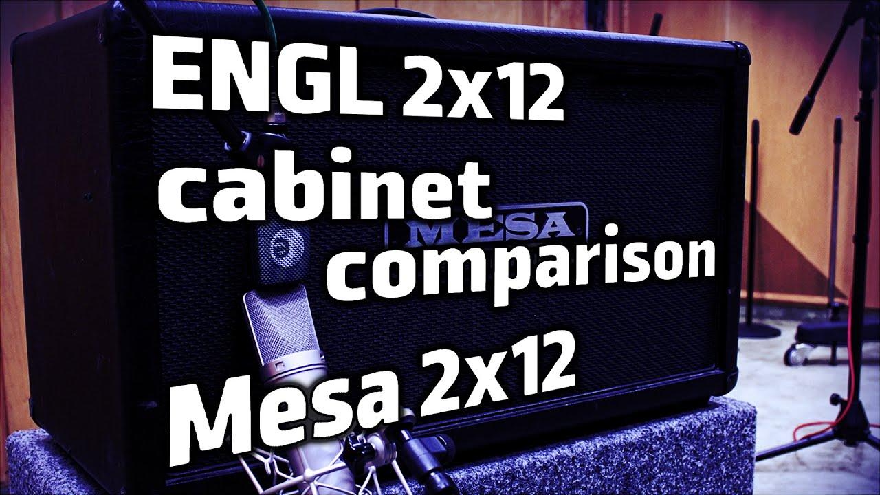 Cabinet Shootout   ENGL U0026 Mesa Boogie 2x12   YouTube