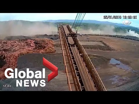 Brazil dam collapse: Terrifying moment caught on camera