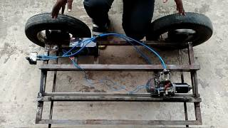 MECHANICAL PROJECT: AUTOMATIC PNEUMATIC JACK WITH RACK AND PINION MECHANISM