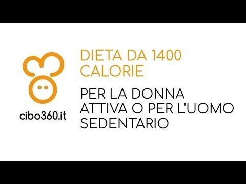 dieta equilibrata 1400 calorie