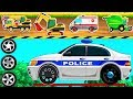 Rescue Trucks Kids : Learning Vehicles Names and Sounds - Police Car. Fire Truck. Emergency Vehicles