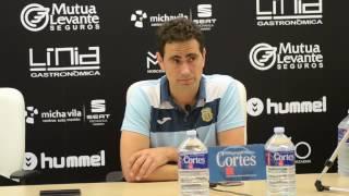 Dani Mori tras el CD Castellón 1 - Peña Deportiva 0 (23/05/2016)