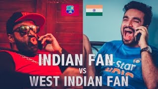 Indian Cricket Fan VS West Indian Cricket Fan | #INDvsWI | Mauka Mauka | Champion song | ODF