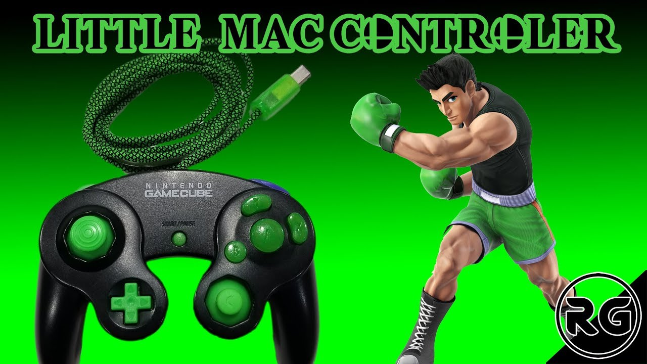 Custom Gamecube Controller - Little Mac Themed Mod and Restoration