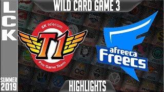 SKT vs AF Highlights Game 3 | LCK Summer 2019 Playoffs Wild Card | SK Telecom T1 vs Afreeca Freecs