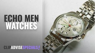 10 Best Selling Echo Men Watches [2018 ]: Echo M5491 Silver Wrist Watch Metal Band – Silver