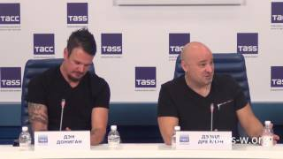 Disturbed Press Conference - Moscow, TASS before live show in Stadium 16.03.2017