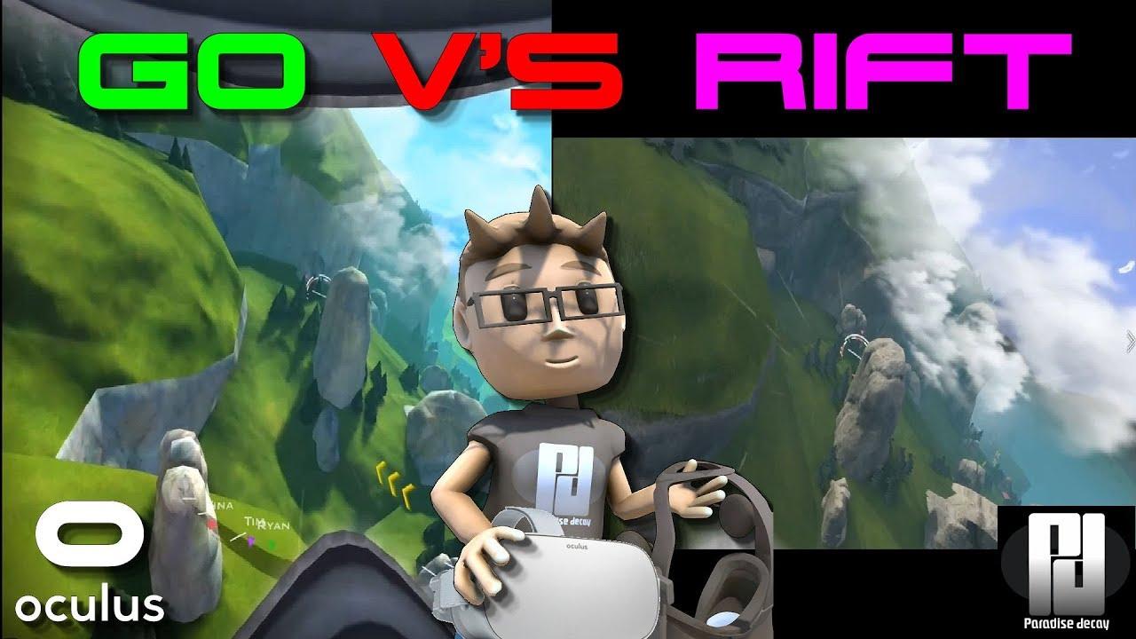 OCULUS GO vs OCULUS RIFT - GRAPHICS COMPARISON!