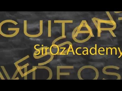 Free Guitar Lesson Loud and Clear Solo by Oz Fox