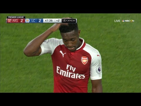 Danny Welbeck brings Arsenal level with Leicester