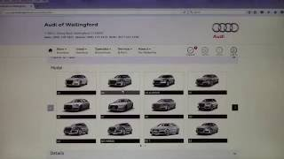 Online Appointment Booking at Audi of Wallingford