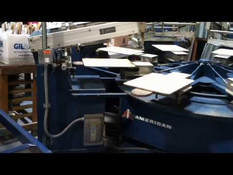 American Arrow Multiprinter screen printing press for sale in Chicago