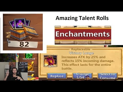 SO LUCKY Rolling Enchantment Talents Ma HATMA + Asura Castle Clash