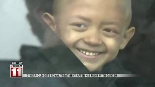 WF 7-year-old gets royal treatment after battle with cancer