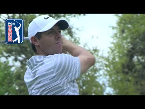 Rory McIlroy blasts his tee shot 410 yards at Dell Match Play