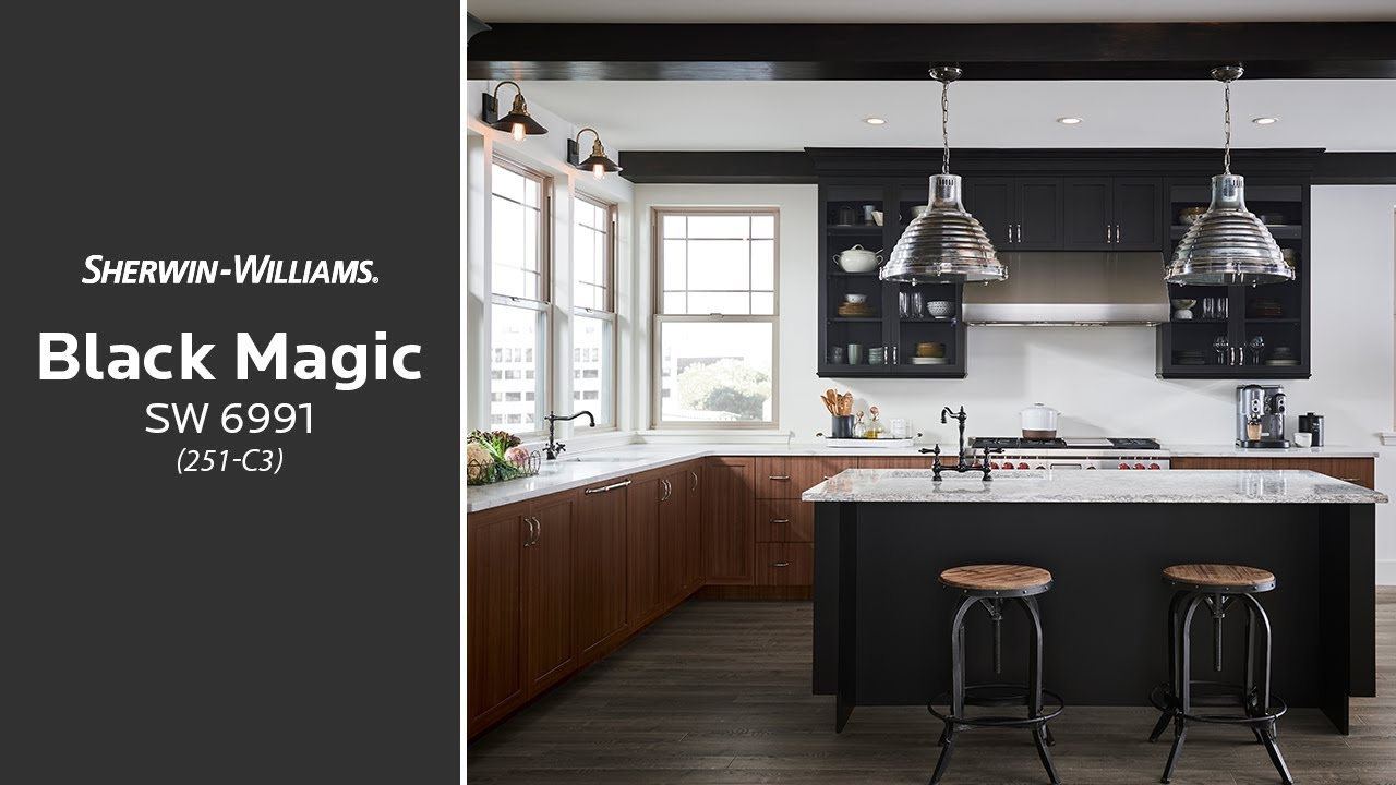 Sherwin-williams Countertop Paint April 2018 Color Of The Month Black Magic Sw 6991 Sherwin Williams