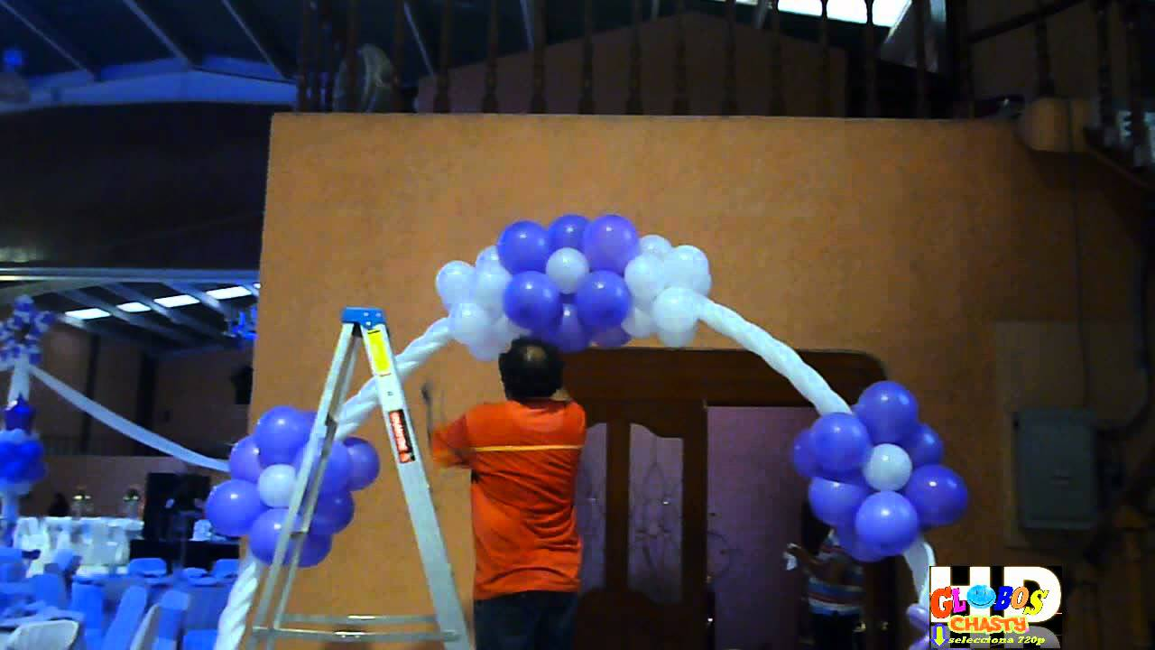 Decoracion de 15 a os con globo doovi for Decoracion con globos 50 anos