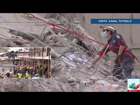 Acordonan y revisan Plaza Condesa tras sismo Video