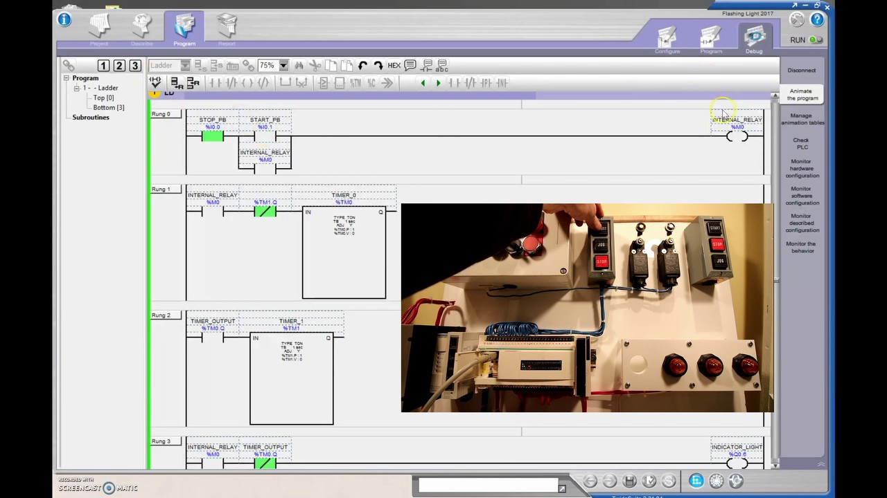 Plc Tutorial Twidosuite 11 Flashing Light Youtube Ladder Programs Internal Relays Programmable Logic Controllers