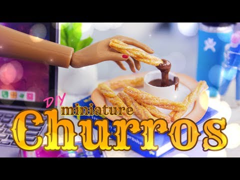 DIY - How to Make: Miniature Churro EASY Paper Food Craft