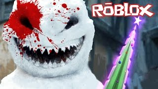 Roblox - Murder Mystery 2 - MURDERED BY A KILLER SNOWMAN!