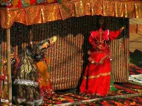 A Puppet Show in Pushkar, Rajasthan