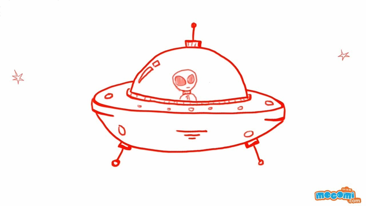 How To Draw A Spaceship (UFO)