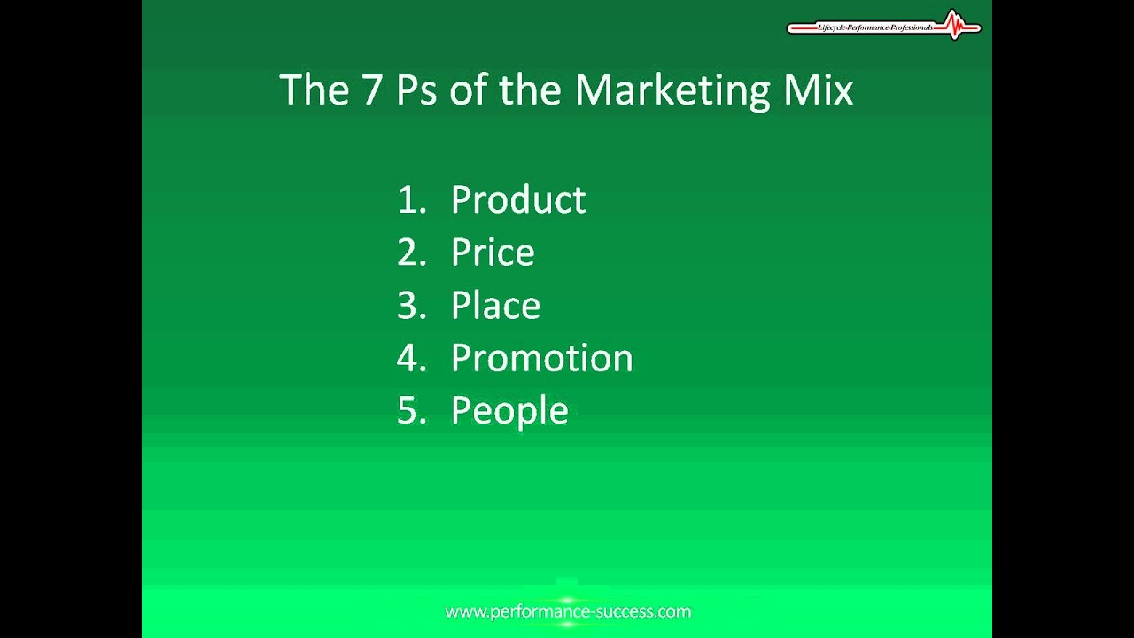 7p in marketing Marketing mix c'est quoi product, price, promotion, place et les plus récents : tout comprendre sur le nouveau marketing mix.