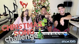 Christmas Song Challenge - LaurDIY vs Alex Wassabi | AJ Rafael