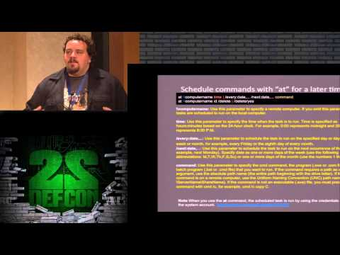 DEF CON 22 - Nemus - An Introduction to Back Dooring Operating Systems for Fun and Trolling