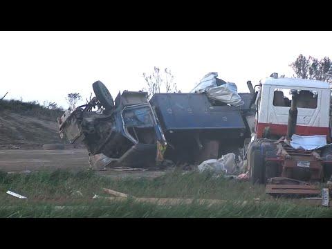 Tornado hits 3 west Minnesota farms, crosses I-94
