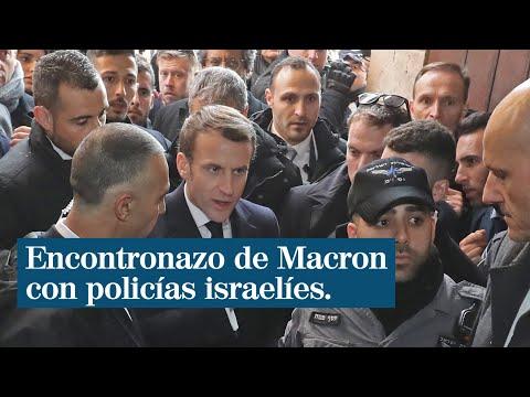 Macron anduvo a los empujones en Israel: incidente con  custodios