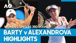 Ashleigh barty vs ekaterina alexandrova match highlights (3r)   australian open 2021