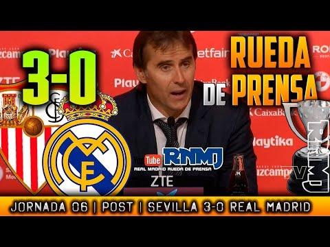 Sevilla 3-0 Real Madrid Rueda de prensa de LOPETEGUI (26/09/2018)   POST LIGA JORNADA 06