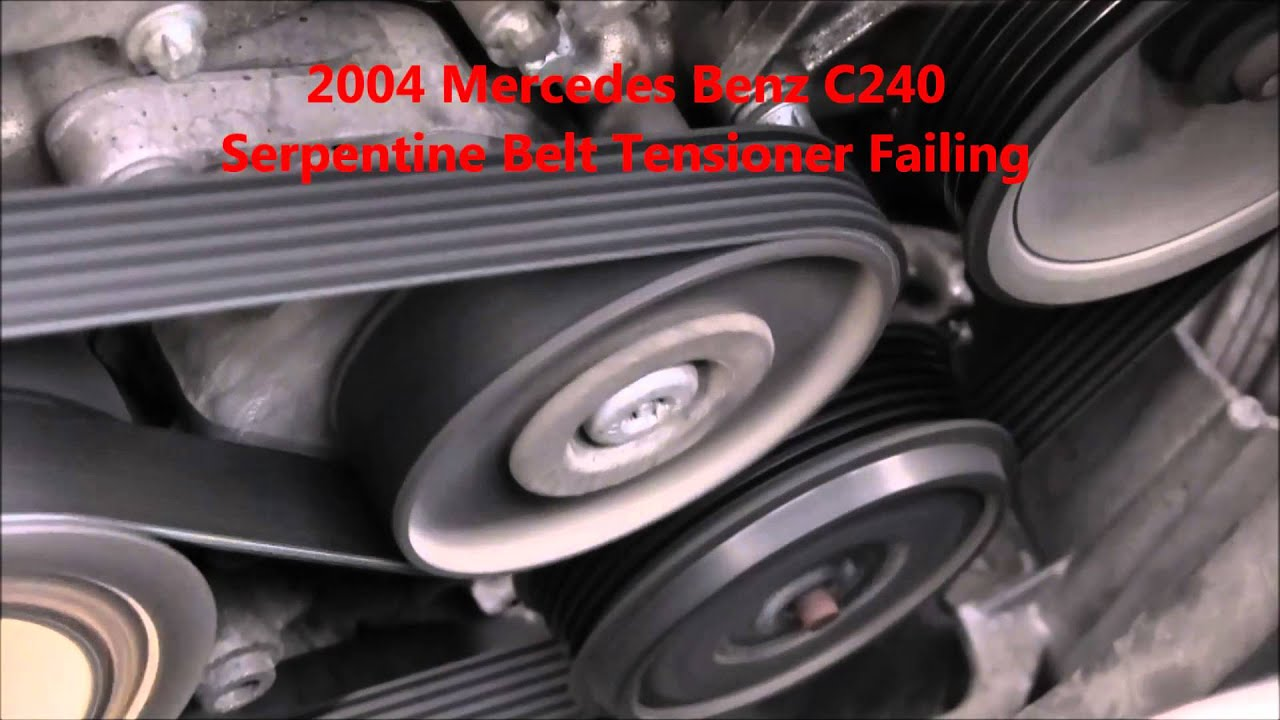 mercedes benz c240 serpentine belt tensioner repair temecula murrieta ca [ 1280 x 720 Pixel ]