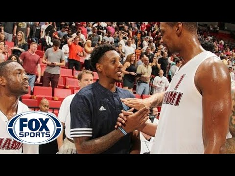 Mario Chalmers reunites with former Heat teammates