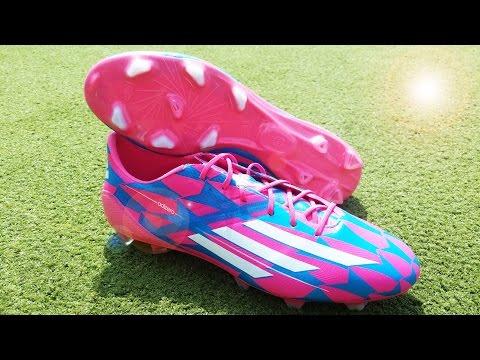 2014 New Bale & James Rodriguez Boots   adidas F50 adizero FG - Neon Pink/Running White/Solar Blue