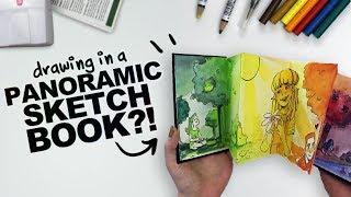 A NEVER-ENDING SKETCHBOOK? | Mystery Art Supplies | Paletteful Packs Unboxing | Accordion SketchbooK