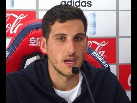 Sergio Herrera, ante el Nàstic-Osasuna