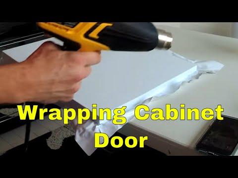 How to wrap cabinet doors Panyl vinyl Rm wraps