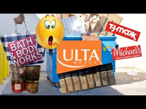 UNBELIEVABLE HAUL 🤭 DUMPSTER DIVING AT TJMAXX, ULTA, BATH & BODY WORKS AND MORE