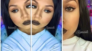 kylie jenner makeup brown lips
