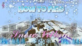 How to find a Snow Village in MINECRAFT