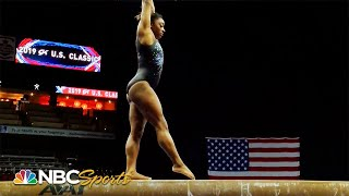Simone Biles's podium training ahead of triumph at U.S. Classic | NBC Sports