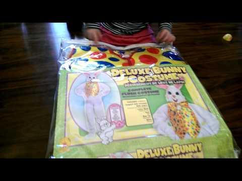 Easter bunny costume unboxing | MommyDani2
