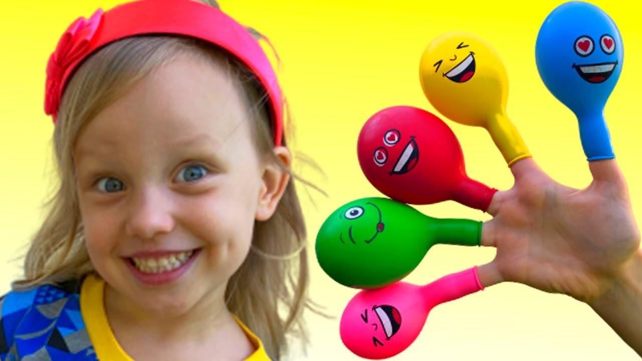 Play with balloons العب مع البالونات والعجلات الملونة لتعلم الألوان Alex and Nastya  Colored wheels